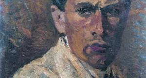 Autoritratto 1909-1910, olio su cartone, cm 37x44 Collezione privata