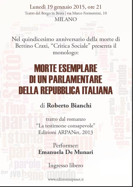 Morte di un parlamentare della repubblica italiana for Repubblica parlamentare italiana