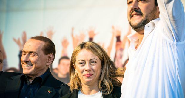 Salvini, Meloni e Berlusconi
