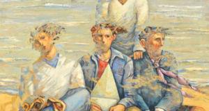 Giampaolo Talani, Davanti al mare, 90 x 100, olio su tela