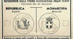 Scheda elettorale del Referendum, sulla Monarchia
