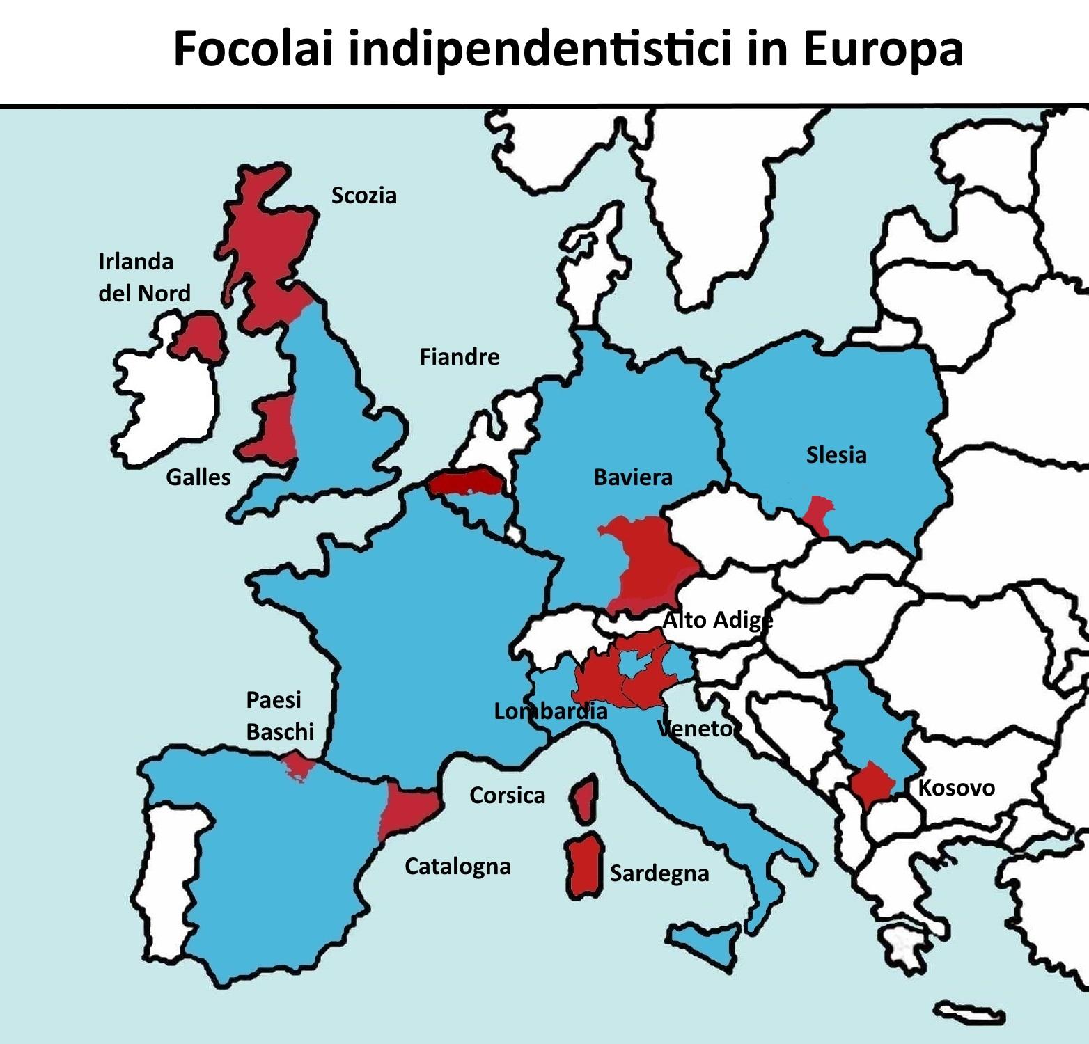 Cartina Catalogna.Il Caso Catalogna E L Europa Unita Pensalibero It